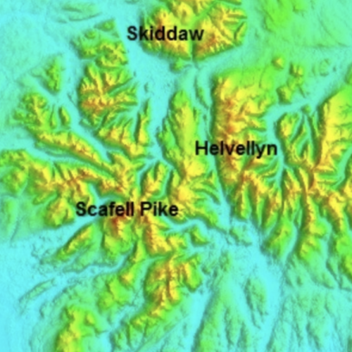 UK Lake District Relief Model