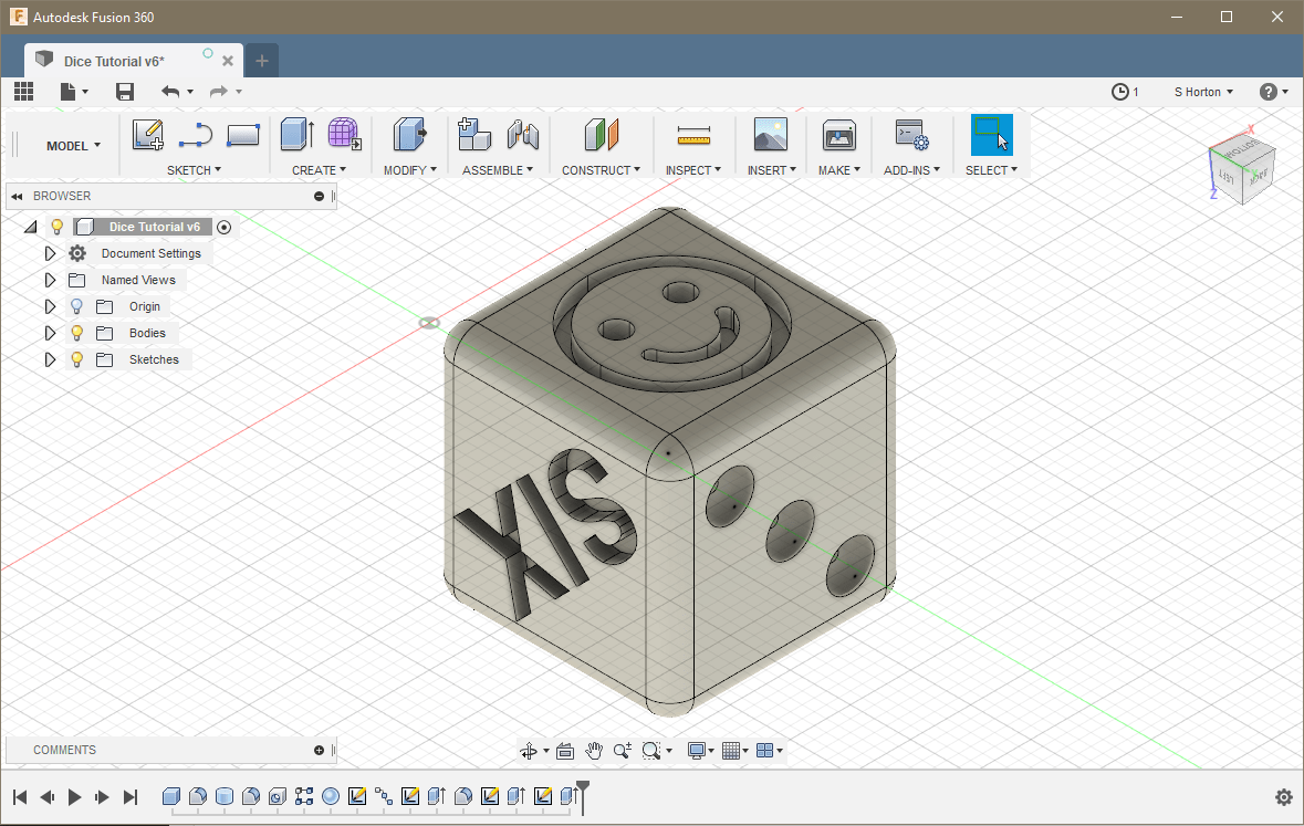 Fusion 360 Emoji Dice Project | The CREATE Education Project Ltd